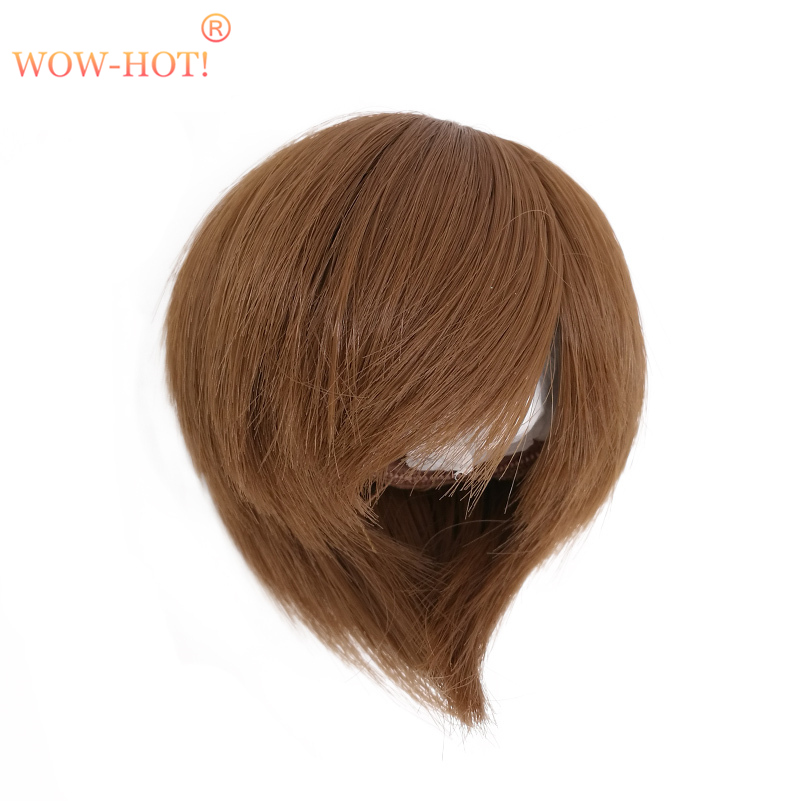 1/3 1/4 1/6 BJD Doll Wig Short Hair,Fashion Brown and Gold Color Quality Simple Cute Dolls Accessories Wigs for BJD Dolls Toy 1 8 1 6 1 4 1 3 uncle bjd sd dd doll accessories wigs gold long straight hair