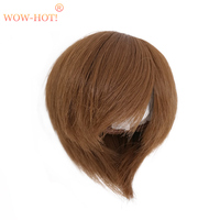1/3 1/4 1/6 BJD Doll Wig Short Hair,Fashion Brown and Gold Color Quality Simple Cute Dolls Accessories Wigs for BJD Dolls Toy