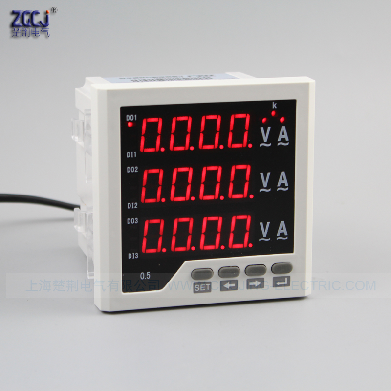 AC 5 A , AC 0-450V , 50Hz , 96x96x80mm 3 phase voltage and ampre meter V A display voltage and ampere meter with 1 relay outputAC 5 A , AC 0-450V , 50Hz , 96x96x80mm 3 phase voltage and ampre meter V A display voltage and ampere meter with 1 relay output