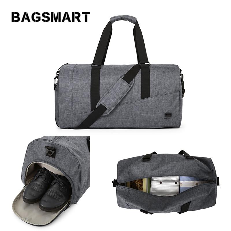 BAGSMART Män Resväska Stor Kapacitet Bär på Bagage Bag Nylon - Väskor för bagage och resor - Foto 1