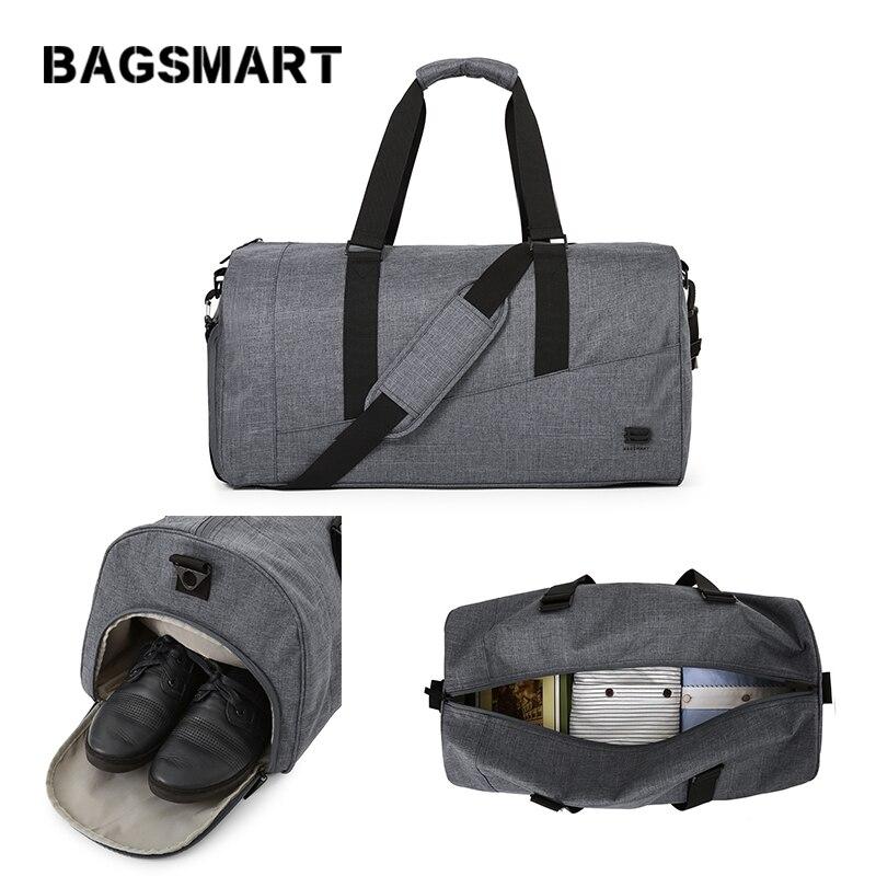 BAGSMART Men Travel Bag Large Capacity Carry on Luggage Bag NylonTravel Duffle with Shoe Pocket Women Travel Luggage Weekend Bag