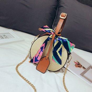 HEBA Hot Sale Women's straw bag Crossbody bag Woven bag Summer leisure bag Small round single