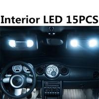 Tcart 15x darmowa wysyłka Wolne od Błędów Zestaw LED Oświetlenie Wnętrza Samochodu Auto Żarówki Led Dla MINI Cooper r50 r53 S/JCW akcesoria 2001-2006