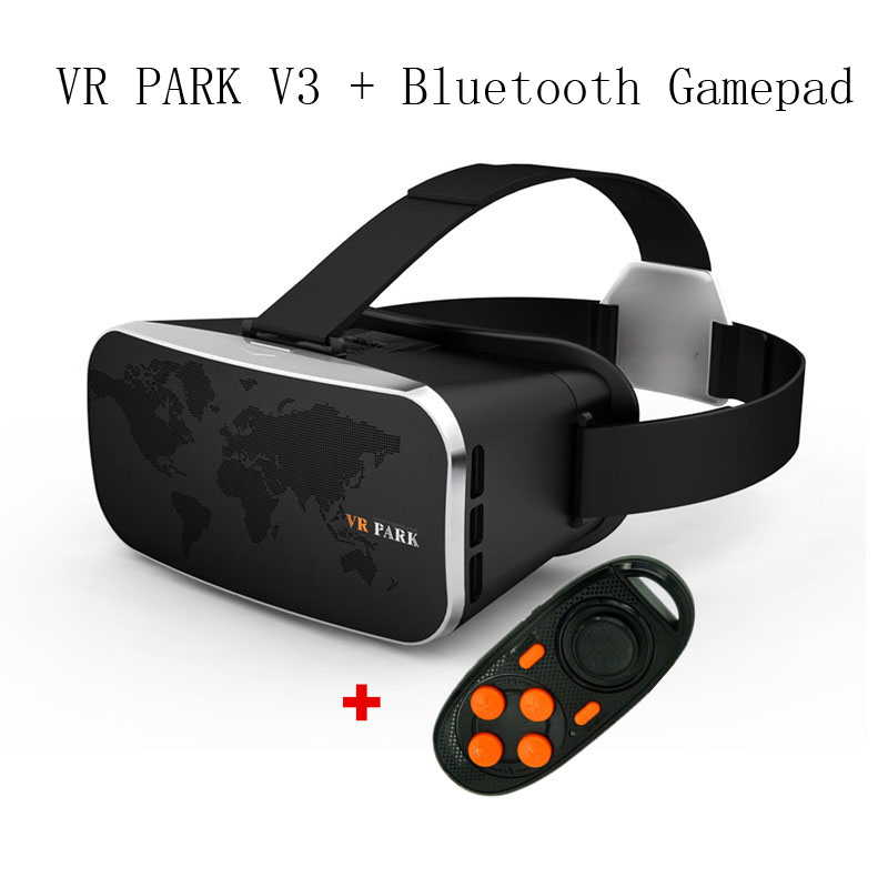 <font><b>VR</b></font> <font><b>PARK</b></font> V3 <font><b>Virtual</b></font> <font><b>Reality</b></font> 3D <font><b>Glasses</b></font> <font><b>VR</b></font> BOX 2.0 3D <font><b>Glasses</b></font> 3D Movies <font><b>Video</b></font> Games Rift+Bluetooth Gamepad