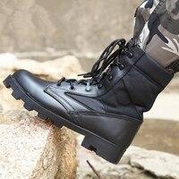 Military Boots Men Botas Militares Quality Men's Tactical military Combat Boots Army Work Shoes Leather Askeri Bot Men's