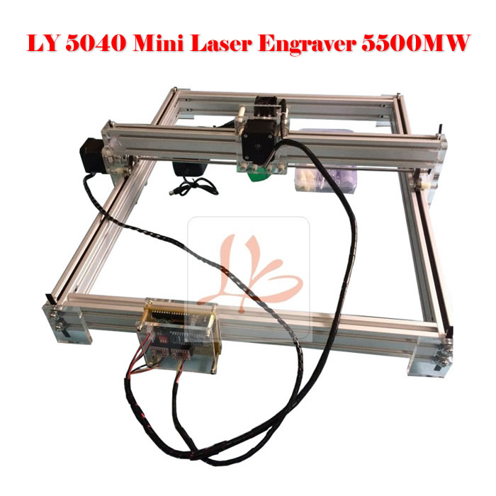 EUR free tax 5500MW Desktop DIY Violet cnc router LY 5040 Laser cutting and milling Machine working size 50*40CM russia free tax cnc 6040z frame of drilling and milling machine for diy cnc router