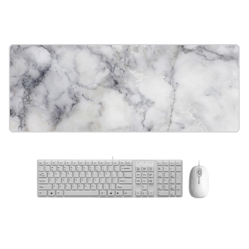 Large  Desk Pad Beautiful Soft Natural Rubber Pink Gold White marble Series Mice Pad Square Gaming Mouse Pad with Locking Edge (3)