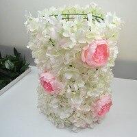 Цветы стены горячей этап фон декоративные искусственные цветы свадебная композиция с 6 Пион 60*40 см 10 шт./лот