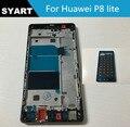Передняя ЖК Поддержка Рамка Ближний Рамка Шасси Корпус с Клей + Боковые Кнопки Для Huawei Ascend P8 Lite