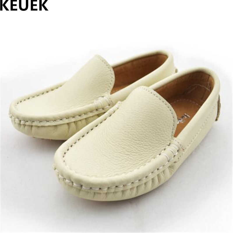 New Spring/Autumn Children Leather Shoes Baby Toddler Loafers Flats Student Casual Genuine Leather Boys Girls Kids Shoes 02