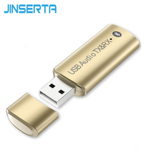 JINSERTA New Wireless Bluetooth Transmitter Receiver Aux 3 5mm Audio USB Bluetooth Sender Transmiter Adapter for