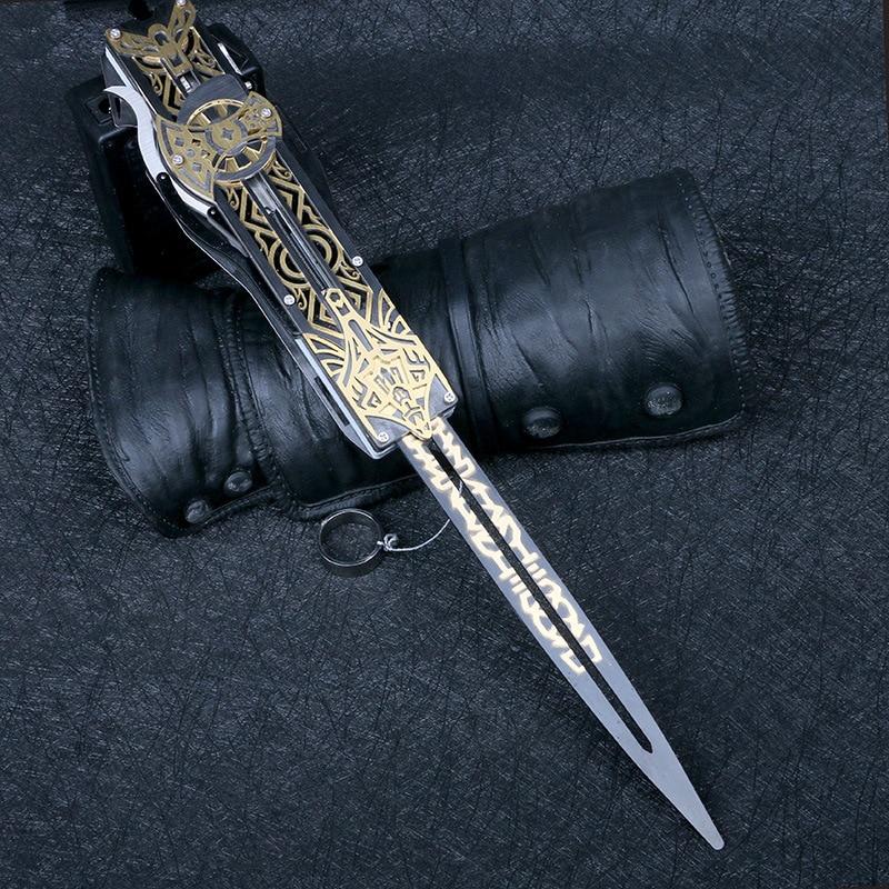 Металлическое лезвие, скрытое лезвие, рукав, меч, фигурка, скрытое лезвие, оружие Эдварда, рукава, мечи, могут выталкивать, детская игрушка