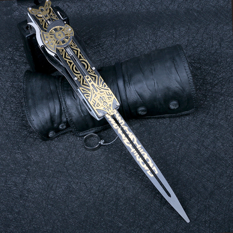 Metal Blade Hidden Blade Sleeve Sword Action Figure  Hidden Blade Edward  Weapons Sleeves Swords Can The Ejection Kid Toy