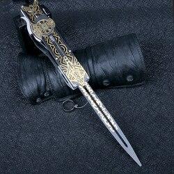 Metal blade Verborgen Blade Mouwen sword Action Figure Hidden Blade Edward Wapens Mouwen zwaarden Kan de uitwerpen kid speelgoed