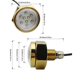 Image 2 - 27 W טיטניום סגסוגת סירת ניקוז Plug אור LED מתחת למים אור עמיד למים 11 28 V הימי סירת מנורה
