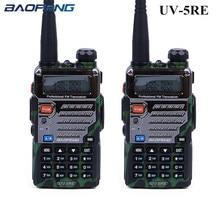 2PCS Baofeng UV 5RE Walkie Talkie UV 5R Upgraded Version UHF VHF CB Radio VOX FM