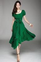 Women S Spring 2014 Summer Dress Casual Dress Party Dresses Long Dress O Neck Short Sleeve