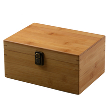 buckle bamboo gift box movable cosmetic organizer storage makeup organizer Traditional Chinese Jewelry Box