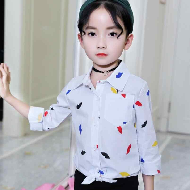8a8fb02412c Детские подросток белые школьные блузки для девочек осень 2018 г. детская  блузка для девочек с