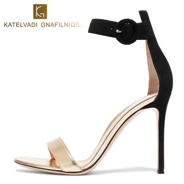 Women Shoes 10CM High Heels Sandals Summer Gladiator Sandals Shoes Open Toe Sexy Sandals Ladies Shoes Women Female Sandals K-082