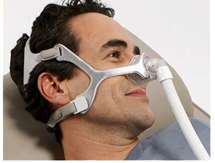 Nuevo Wisp máscara de contacto mínima máscara Nasal con marco de tela aparato de respiración para dormir Apnea Nasal Anti ronquidos