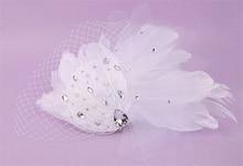 Beaded Feather Fascinator Veil Hat Wedding Hats And Fascinators Hair Accessories Chapeu Acessorios Para Festa Capelli WIGO0936