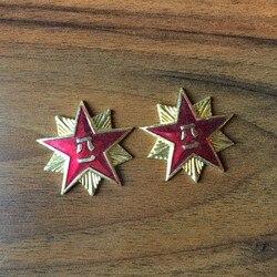 WWII WW2 Chinesische Armee Stern Abzeichen China Military Souvenirs Günstige Großhandel Goldenen Fünf Sterne