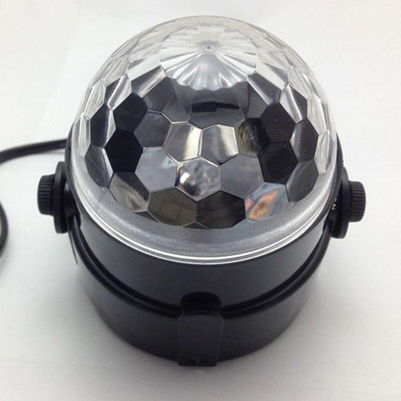 Купить с кэшбэком Mini RGB LED Crystal Magic Ball Stage Effect Lighting Lamp Bulb Party Disco Club DJ Light Show Lumiere