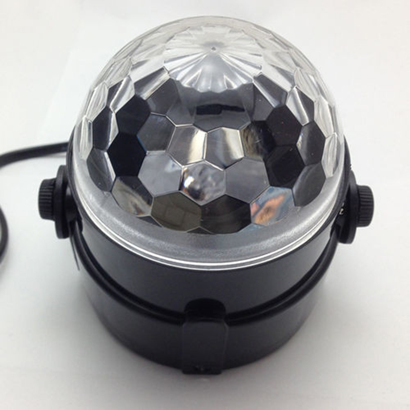 Mini RGB LED Crystal Magic Ball Stage Effect Lighting Lamp Bulb Party - Կոմերցիոն լուսավորություն - Լուսանկար 6