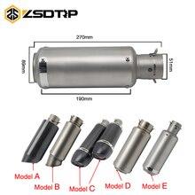 Zsdtrp 51mm tubo de escape da motocicleta silenciador sc real fibra carbono tubo de escape adesivo sem móvel db assassino