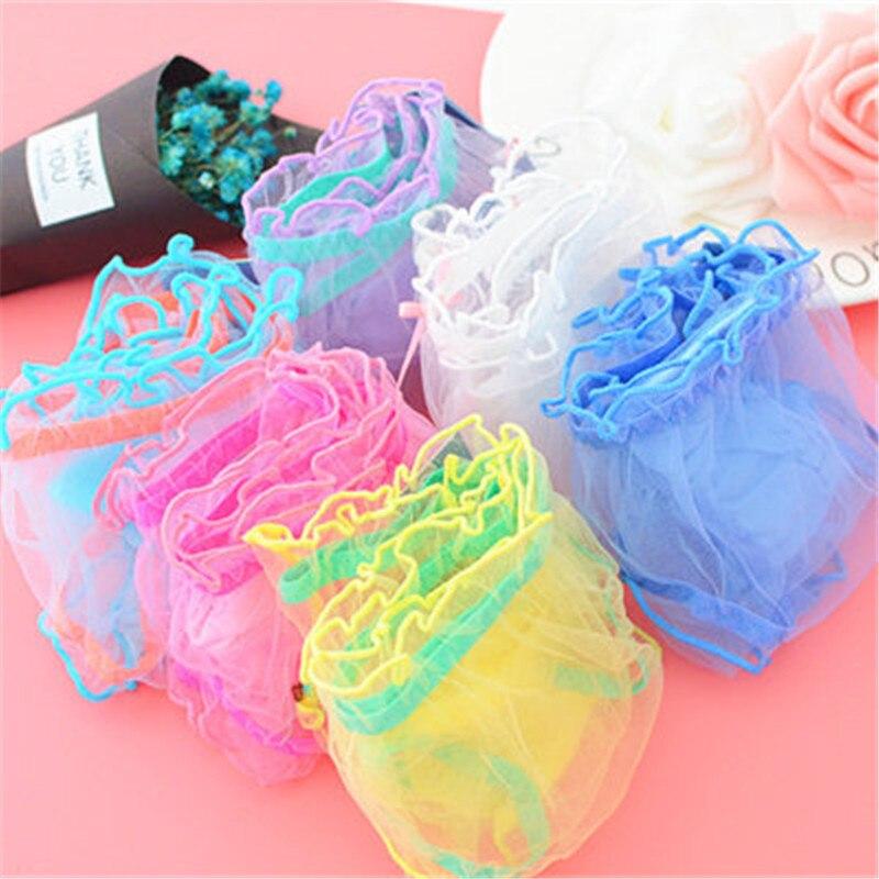 Sous-vêtements en dentelle transparente pour filles   Culotte de marque en maille pour jeunes filles, culottes en dentelle sans couture pour adolescentes