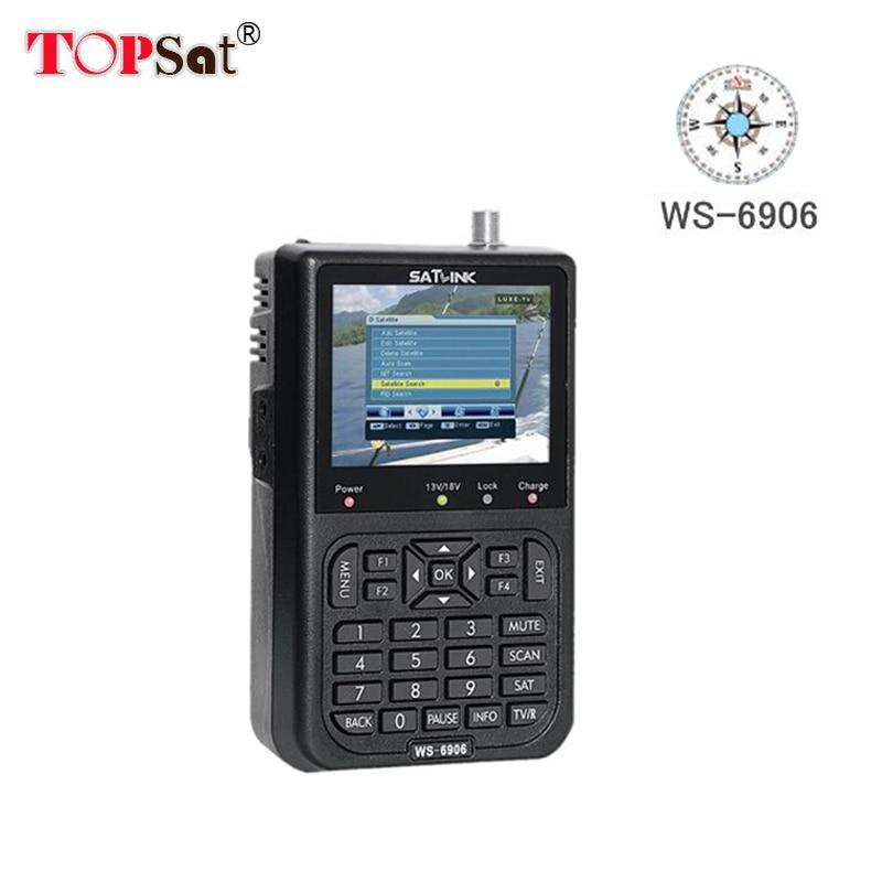Claro stock inteligente Satlink WS-6906 DVB-S TLC Digital de señal de  satélite búsqueda automática del canal TV Radio WS 6906 buscador de