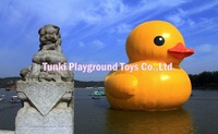 3 meters high inflatable cartoon yellow duck
