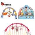 Genuine autorizado sozzy 3 modelos infantis baby toys berço carrinho de criança brinquedo Bonito Recém-nascidos Pendurado Anel Chocalho Do Bebê Sino Cama Macia carrinho de bebê