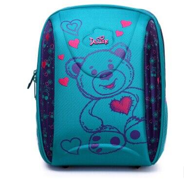 Детская Delune школьная сумка большой Ёмкость школьный рюкзак ортопедический медведь с принтом Совы тиснением девушки рюкзак 3-5 класса студен...