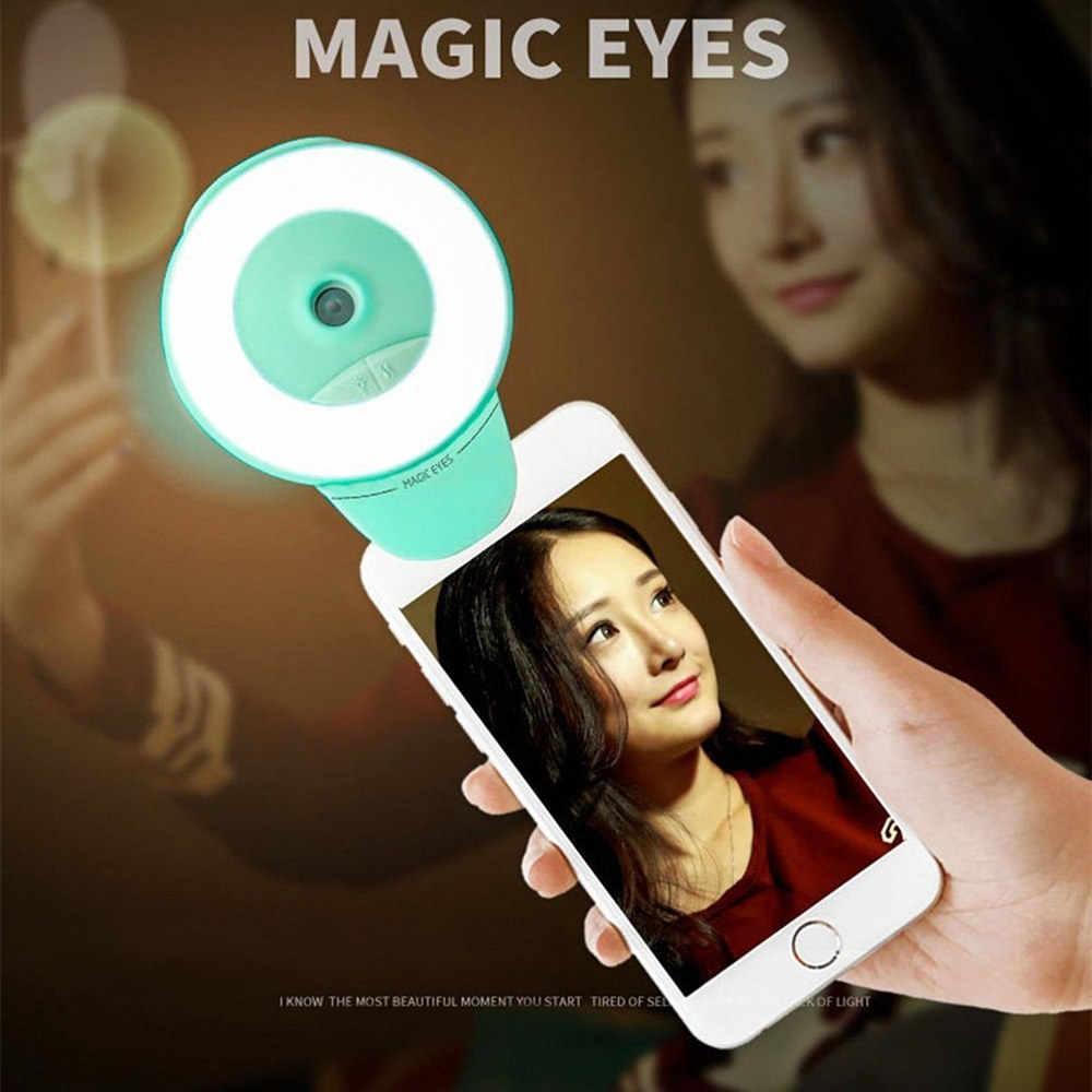 Beleza Facial Névoa Pulverizador 2-em-1 Encher de Luz Anel de Luz Auto-temporizador Selfie Portátil Mini Umidificador Spray de Reabastecimento de Água