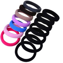 10PCS/Lot New Korean Hair Accessories For Women Black Elastic Hair Rubber Bands Girls Hair Ropes Ponytail Holder Tie Gums bands 5pc lot simple elegant hair accessories for girls women pearl multilayer elastic hair bands tie rope rubber bands women hairband