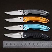 Sanrenmu 4073 bolso edc sobrevivência ferramentas mini faca dobrável para acampamento caminhadas e viagens sem bloqueio