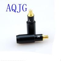 1 Paar MMCX Mannelijke Vergulde Oortelefoon Pin Plug voor audio-technica ATH ESW750 ESW950 ES770H 990 H Rechte vorm DIY Connector