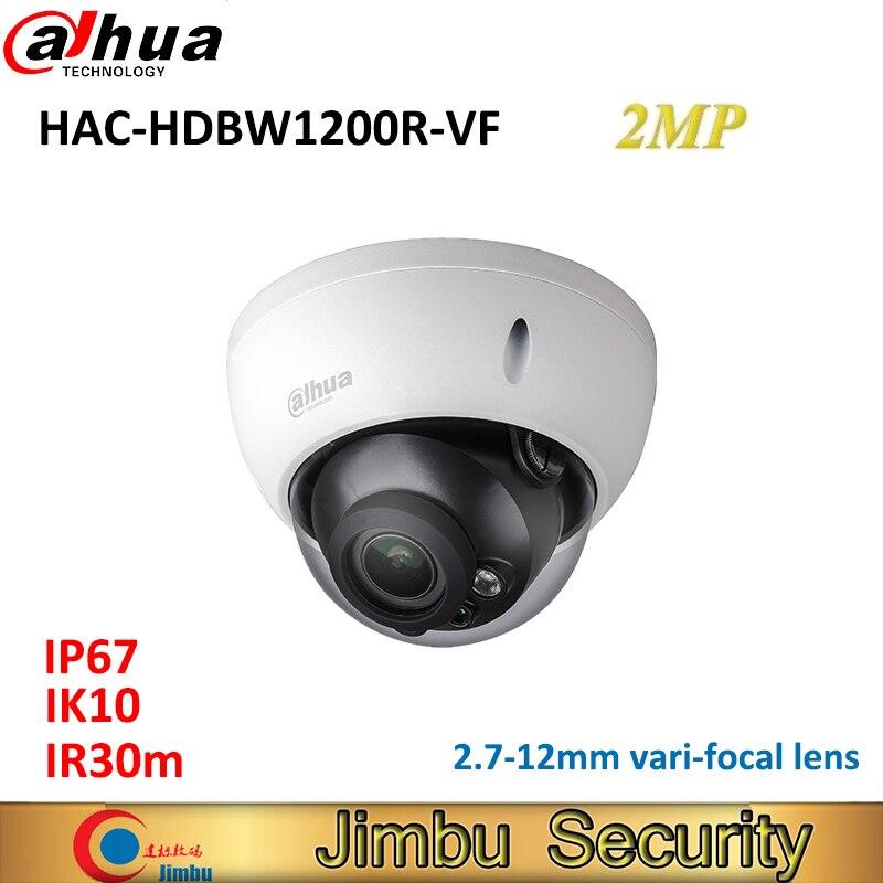 цена на DAHUA HDCVI camera 2.7-12mm vari-focal lens HAC-HDBW1200R-VF Dome cctv camera IP67 IR30m
