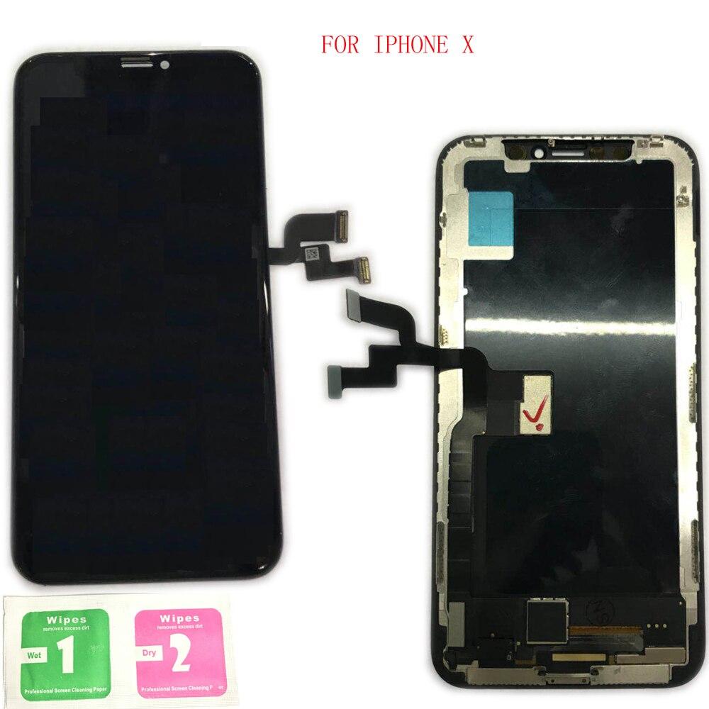 100% Grade AAA Écran LCD Avec Écran Tactile Digitizer Assemblée Remplacement Pour Apple iphone X Noir iphone x