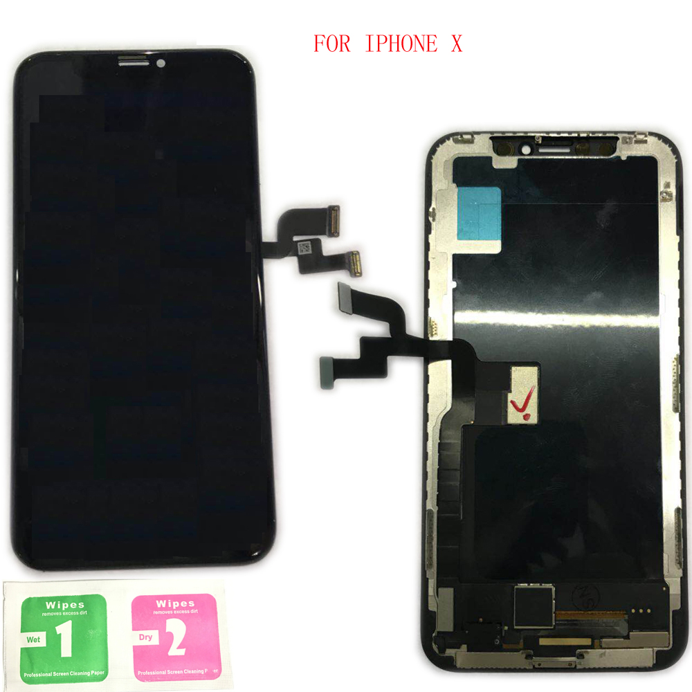 100% di Grado AAA Display LCD Con Touch Screen Digitizer Assembly di Ricambio Per Apple iphone X Nero iphone x
