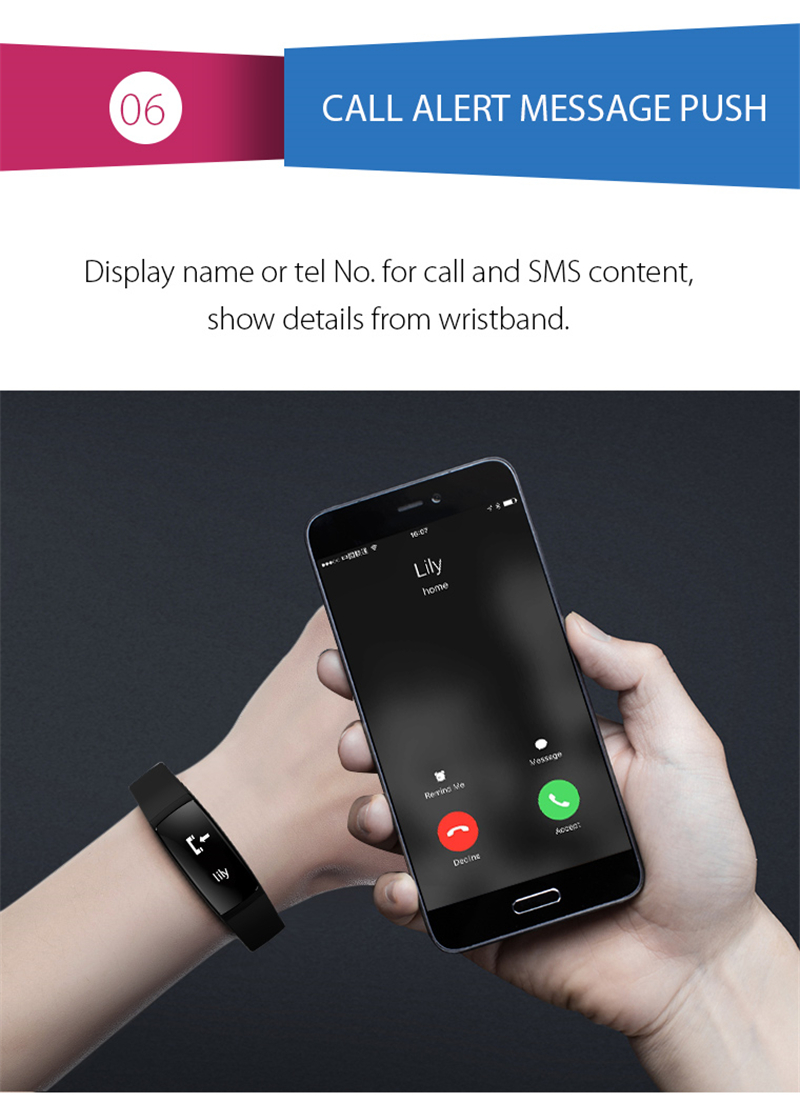 Smart Bracelet Bluetooth Smart Band V07 Watches Blood Pressure Heart Rate Monitor Pedometer Fintess Tracker SMS Call Reminder 8