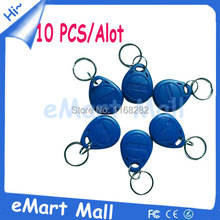 10 Piece 125Khz RFID Proximity ID Card Token Tags Keyfobs em4100 for Access Control Time Attendance