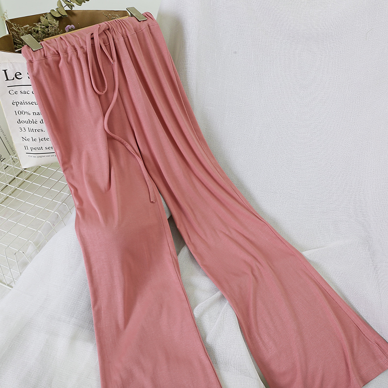 women's summer clothing Casual trousers elastic wide leg pants