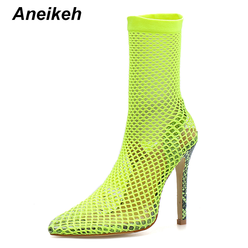 Aneikeh 2019 Gladiator  Summer New Ladies Sandals Fashion Sexy Crystal Thin With High Heel Hollow Out Women Sandals Green BlackAneikeh 2019 Gladiator  Summer New Ladies Sandals Fashion Sexy Crystal Thin With High Heel Hollow Out Women Sandals Green Black