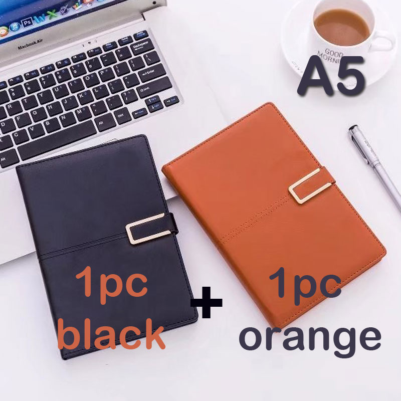 Dilosbu A5 2pcs leather cover business travel notebook office planner journal stationery Binder Office Paper Organizer Notepad