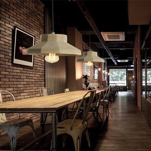 Vintage style lighting fixtures Pathson Huanjunshi Nordic Rustic Cement Led Pendant Lights Loft Style Lampe Vintage Industrial Lighting Fixtures Retro Hanging Light Aliexpress Huanjunshi Nordic Rustic Cement Led Pendant Lights Loft Style Lampe
