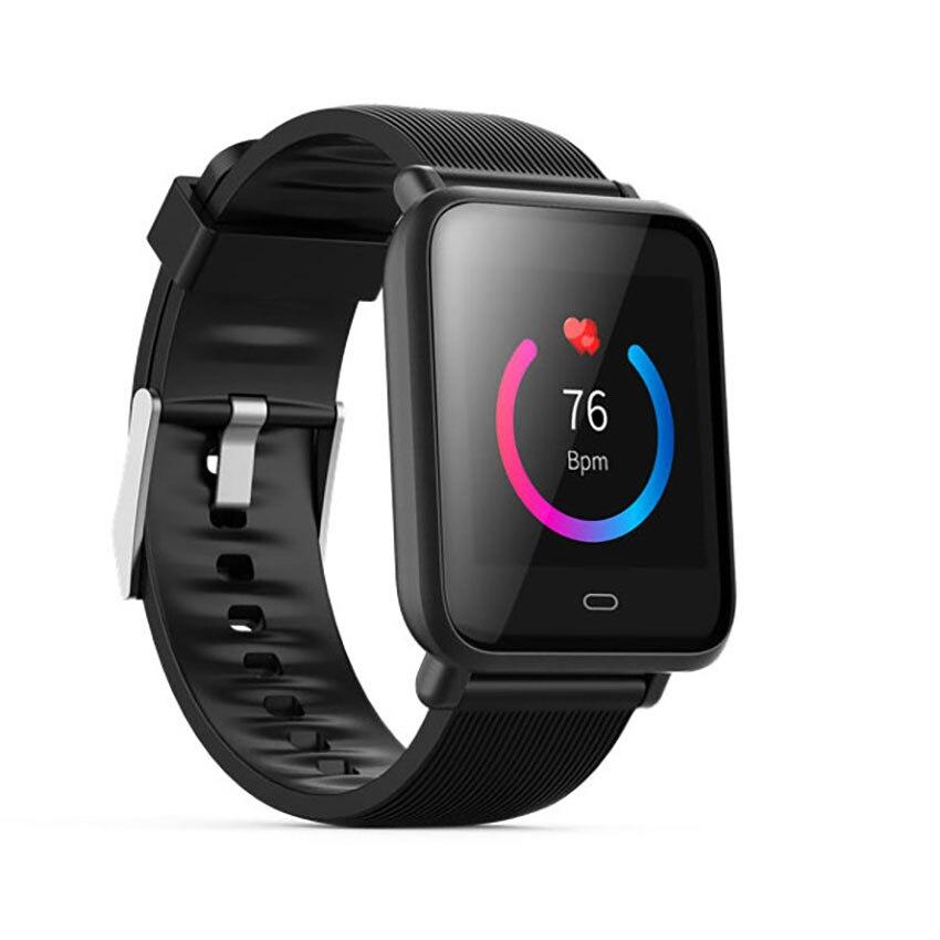Multidial Q9 Smartwatch IPX67 deportes impermeables para Android IOS con Monitor de frecuencia cardíaca funciones de presión arterial reloj inteligente