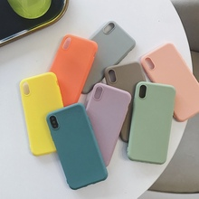 Solid Color Case For OPPO F11 A9 A7 A5S A3S K1 R15X R17 F9 RX17 Neo Cover Soft Matte TPU Mobile Phone Cases